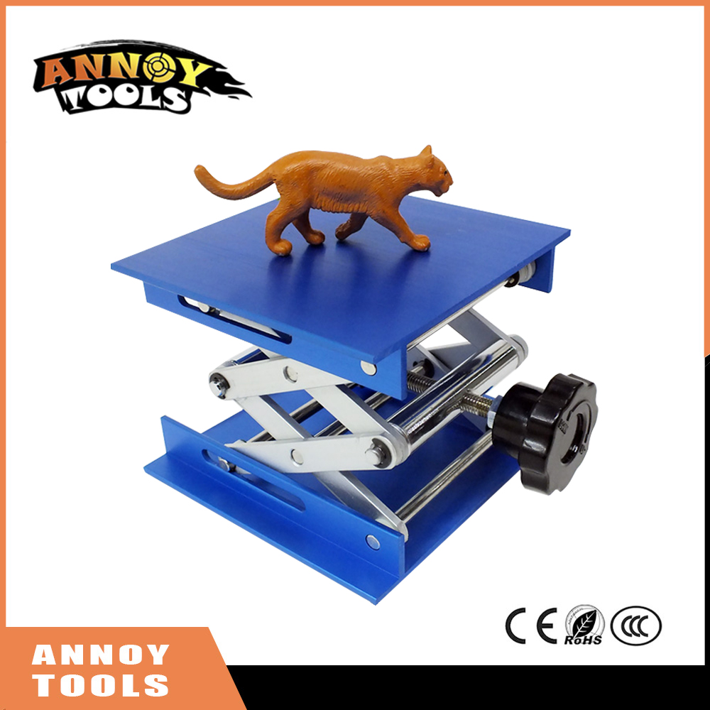 CNC laser engraving machine Focus Adjustable LY 100*100 Mini aluminum alloy Lifting platform for desktop max adjust height 110mm<br>