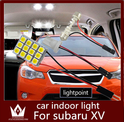 Guang Dian 6pcs/set car indoor lamp Roof Dome Panel Reading Package Trunk Light t10 adjustable festoon For XV 10-2015<br><br>Aliexpress