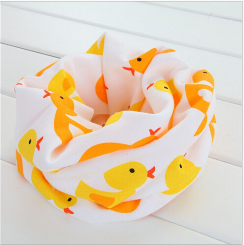 new retail duck fish frog words car animal cartoon O ring baby collars kids scarf bib warm neck wear scarves child burp cloth
