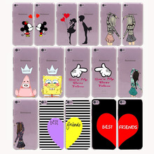 cute Mickey kiss bbf best friends lover Hard Transparent  Case for Lenovo S850 S90 S60 & Nokia 535 630 730 640XL & Sony Z2 3 4