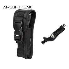 Tactical Molle Flashlight Pouch Outdoor Military Portable Nylon Torch Waist Bag Flashlight Holder Hunting Bags