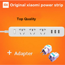 100% Original Xiaomi Mi Power Strip Socket with 3 USB Standard Extension Socket Plug Multifunctional Fast Charging EU UK Adapter