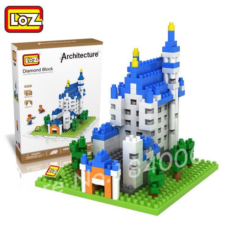 550pcs LOZ The Neuschwanstein Castle Model plastic building block scale model educational toy Action Figure 3D Bricks Toys<br><br>Aliexpress