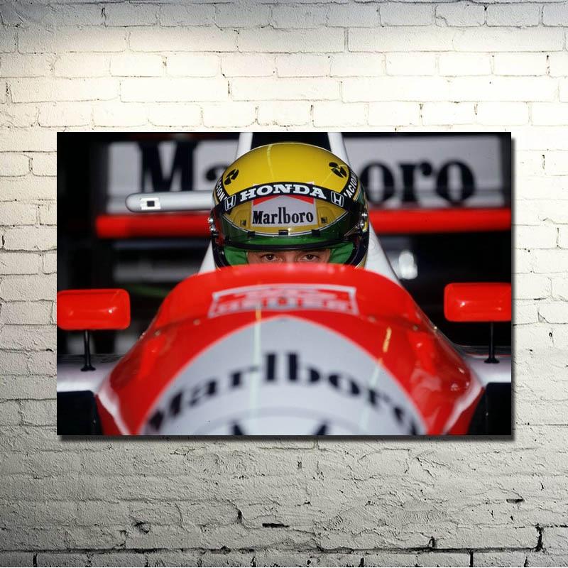 H276 New Ayrton Senna F1 Formula Custom Poster Print Art Decor