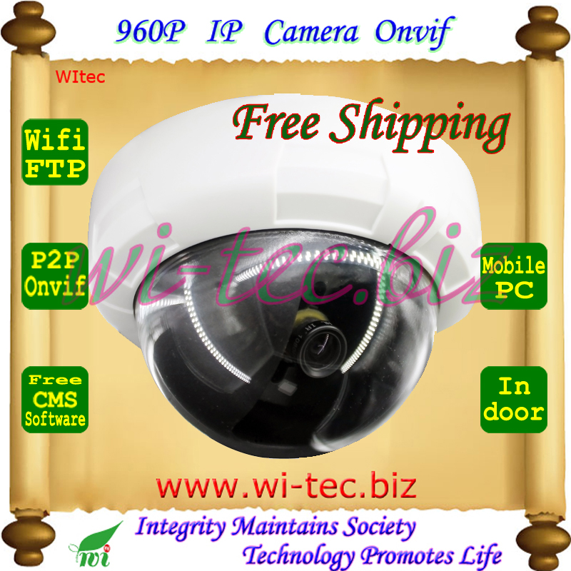 Built-in wifi HD 960P Dome Plastice Indoor CCTV Camera Onvif Wireless IP Camera FTP Email Alarm Motion detect P2P Mobile view<br><br>Aliexpress