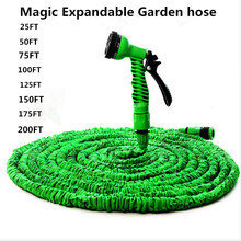 25FT-200FT Magic Flexible Garden Hose Expandable Watering Hose With Plastic Hoses Telescopic Pipe With Spray Gun To Watering(China)