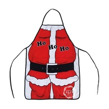 The new sytle Santa Claus apron Personality whimsy novelty gifts Household kitchen apron(China)