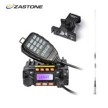 Zastone MP300 Car Walkie Talkie Dual Band VHF/UHF 136-174MHz/400-480MHz 25W/20W Radio Station With Car Antenna and Mounting Clip(China)