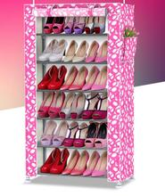 Simple shoe rack multi-layer stainless steel large capacity shoe cabinet