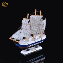 Hot Sale Diy Sailing Boat Cool Vogue Nautical Decoration Wooden Toy Sailboats Wood Sailboat -shaped Mold for Home Decor