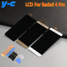 For Xiaomi Redmi 4 Pro LCD Display+Touch Screen High Quality 100% New Digitizer Screen Glass Panel For Xiaomi Redmi 4 Pro Prime