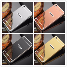 Fashion Luxury Rose Gold Silver Black Beauty Frame Mirror Case For Lenovo S850 S 850 Shell Back Cover Housing New