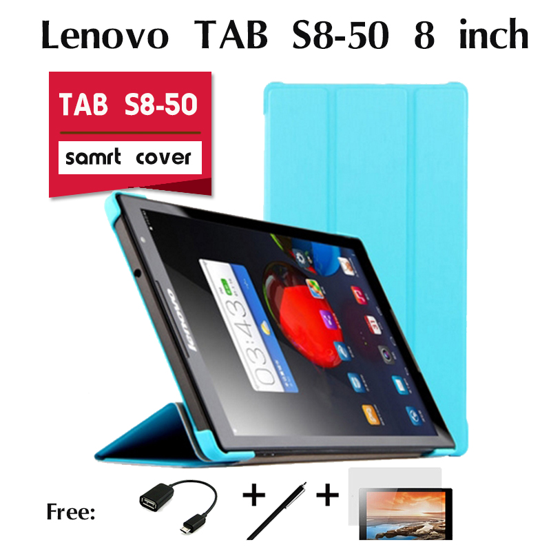 For Lenovo TAB S8-50 holster case small S struggle version 8 tablet protective holster scale Flip PU Leather Smart Back Cover<br><br>Aliexpress