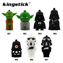 Kingstick USB Flash Drive USB2.0 Pendrive STAR WARS model 8GB 16GB 32GB 64GB 4GB Pen Drive Memory Flash disk(China)
