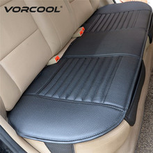 VORCOOL Auto Interior Accessory PU Leather Charcoal Car Pad Seat Cushion Mat Protective Cover for Car Office Chair Back Seat Pad