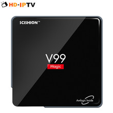 SCISHION V99 Magic Android Smart TV Box Amlogic S912 2G/16G Octa Core Dual WiFi Bluetooth 4 3D Media Player Support HDMI TF card