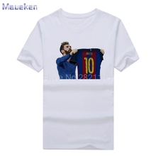 2017 new design Men's Barcelona Lionel Messi 500 Goals tee T Shirt Men 100% cotton T-shirts for fans gift 0429-6(China)