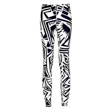 2016 New Exercise Leggings Fitness Pants Women Black And White Printed Casual Long Trousers High Quality Spring Sweatpants