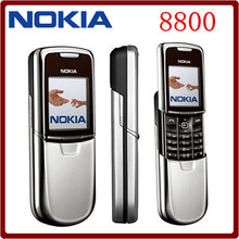 Nokia 8800 Original Mobile Phone English/Russian keyboard GSM FM Radio Bluetooth Refurbished Cellphone Gold Silver Black(China)