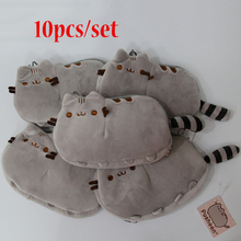 10pcs/set GUND PUSHEEN CAT Plush Coin Bag Doll Lovely Animal for Kids Gift Stuffed Toy Wholesale 18x12CM(China)