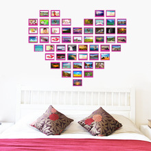 Buy Heart Design photo frame family forever memory wall decals 8521 removable pvc wall sticker home decoration DIY for $12.99 in AliExpress store