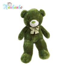 80cm High Quailty Big Plush Teddy Bear Giant Stuffed Animals Toy Purple&Green&Pink Color Gift For Friends(China)