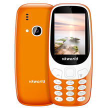 VKworld Z3310 Elder Phone 3D 2.4 inch 1450mAh 2.0MP Camera GSM Cell Phone Dual SIM FM Radio LED Light Russian Keyboard in Stock