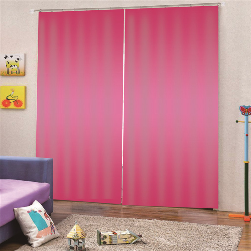 3D Digital Print Pink Blackout Window Drapes Luxury 3D Curtains For Living room Bedroom Office Hotel Home Decor Draps AP19