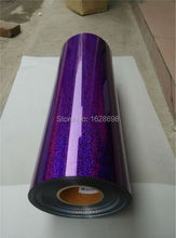 Korea High quality hologram pu vinyl for heat transfer with size: 50CMX200CM transfer hologram pu film CDH-04 purple color