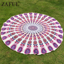 ZAFUL Multifunctional Scarves Summer Beach Throw Towel Bohemian Ethic India Mandala Print Cover Up Tablecloth Blanket Pashmina