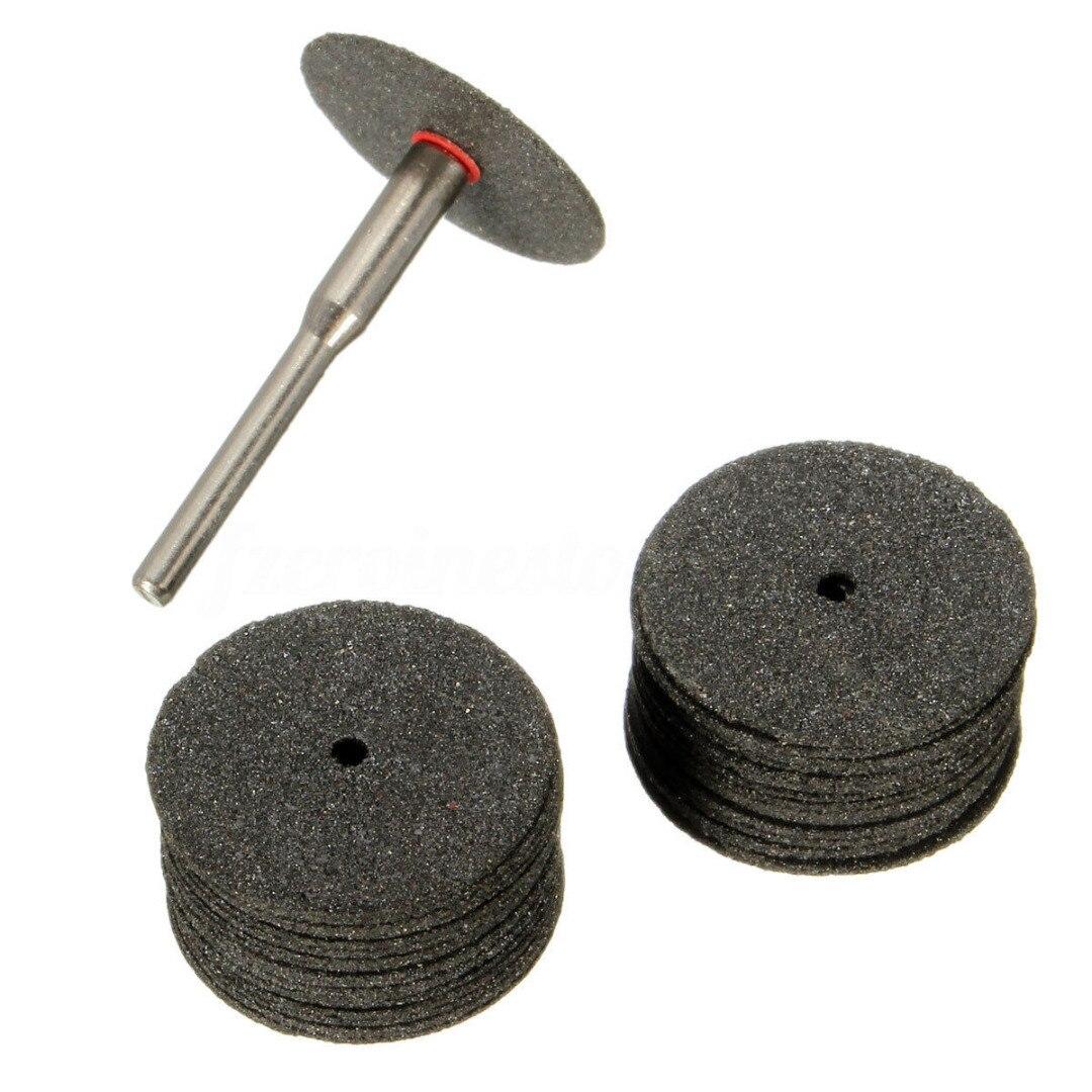 36Pcs 24mm Mini Diamond Cutting Discs Wheel Drill Bit For Rotary Jewellery Tool