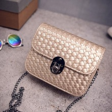 New knitted chain small women bags fashion designer girls messenger bag leather crossbody bags candy colors lady handbags