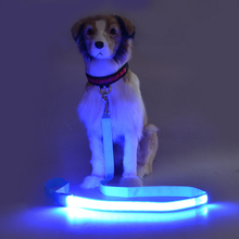 120cm Nylon LED Pet Leash, Night Safety Flashing Glow Pet Supplies Dogs Cat Lead Leashes