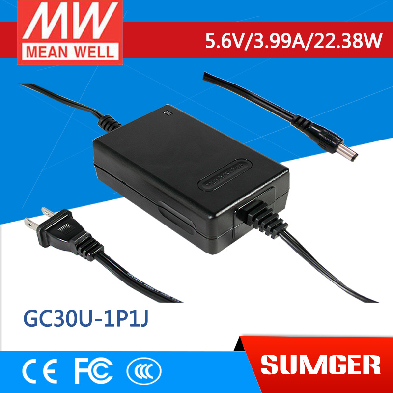 1MEAN WELL original GC30U-1P1J 5.6V 3.99A meanwell GC30U 5.6V 22.38W Power Adaptor with Charging Function<br>