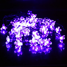 BeTwinkle LED Solar String Lights Cherry Pendant Outdoor Garden Christmas Fairy Light Festival Decorative Lightings 7M 50leds