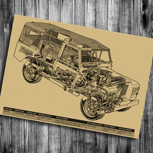 Truck Vintage Poster Drawing Retro Art Painting Antique Print Picture house decor Living Room Bar Pub Cafe Wall Sticker 42x30cm