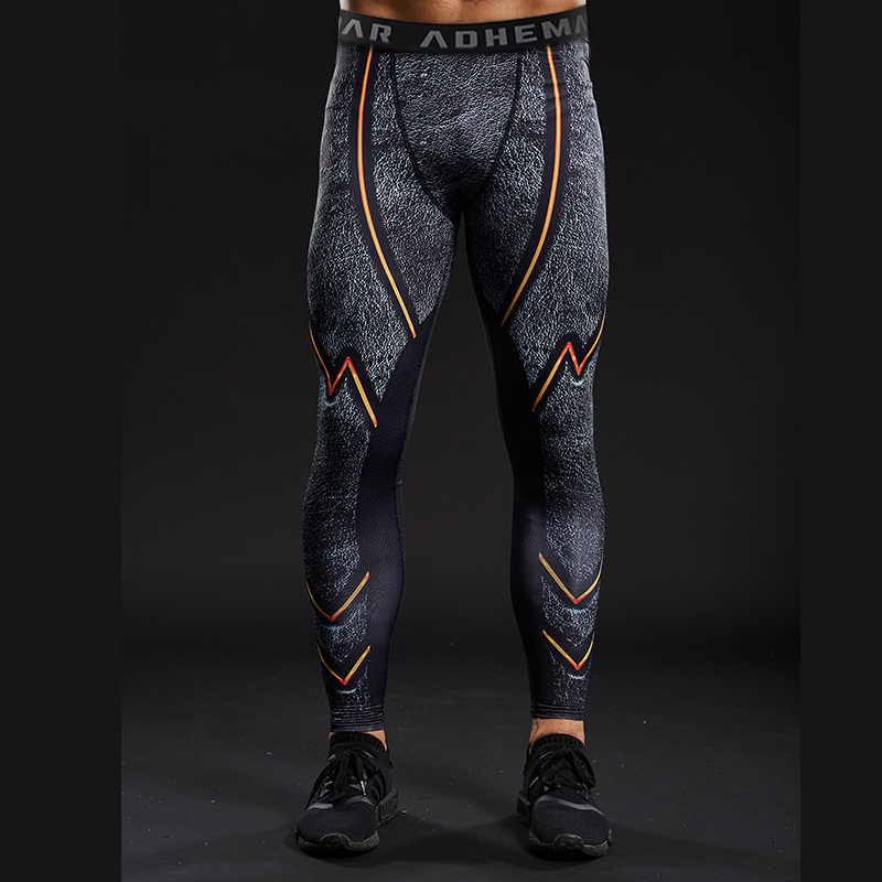 Graphic 3D Printed Mens Compression Bottoms Basic Pants Trousers Gym Leggings