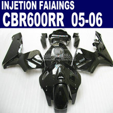 Injection fairings parts for Honda glossy black CBR600RR fairing kit CBR 600RR 2005 2006 CBR 600 RR 05 06 motorcycle body(China)