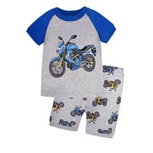 Summer 100% Cotton Children Pajamas Baby Boy Costume Animal Cartoon Clothing for Kids 2pcs Clothes for Girls Toddler Tracksiut