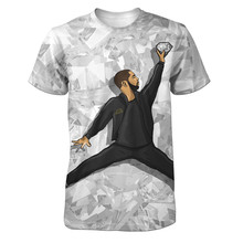 Real American size  drake jumpman  3D Sublimatin print  high quality T-shirt Custom Made Clothing plus size