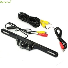 Cls Best Signal New Licence Plate Waterproof CMD Rear View 7 LED Backup Camera NTSC for GPS/Mointor/DVD Aug 10(China)