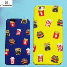 Cartoon Hamburg French Fries Frosted Case For Iphone 6s Case For Iphone 6S Plus Hard Cover Phone Cases For Iphone 6 6s Plus Case