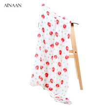 AINAAN Baby Blanket Cotton Bamboo Muslin Swaddle Wraps Baby Blankets Newborn Bamboo Muslin Blankets For Girls(China)