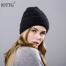 IOTTG Winter Hats For Women Wool Beanie Female Skullies Beanies Casual Outdoor Ski Knit Caps Thick Warm Stocking Hat