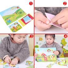 1set DIY 3D Sticker Drawing Picture Self-adhesive Kids Crafts Decoration Game Gift DIY Children Toy(China)