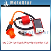 Racing Ignition Coil + 6 Pin AC CDI Box + Spark Plug D8TC For CG 125cc 150cc 200c 250cc Chinese ATV Quad Pit Dirt Bike