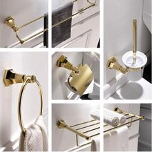new Modern sanitary hardware set Golden Finished Bathroom Accessories Products ,Towel Holder,Towel Bar towel ring set(China)