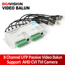 CCTV 8 Channel UTP Video Balun BNC to UTP RJ45 Camera Passive 8CH Video Balun Transmitter Support 720p/1080p AHD Camera 250m