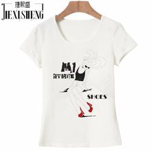 European and American style women t shirt fashion Modern girl Printed tshirt casual cotton top tees
