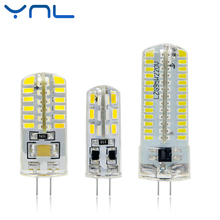 YNL LED G4 Lamp 220V 3W 4W 5W DC 12V Lampada G4 LED bulb SMD3014 2835 24 48 64 104L Replace 10w 30w Halogen Light 360 Beam Angle